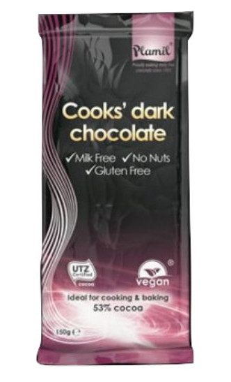 Chocolate preto para culinária 150 g - sem glúten