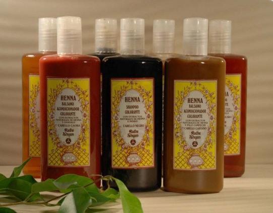 Champ� colorante Henna para cabelos pretos 250 ml - Radhe Shyam