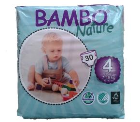 Fraldas Bambo Nature Eco-descart�veis Maxi 7-18kg (30 unidades)