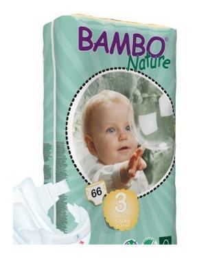 Fraldas Bambo Nature Eco-descart�veis Midi 5-9kg (66 unidades)