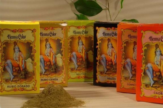 Colora��o em p� Henna Color Castanho m�dio 100 g - Radhe Shyam