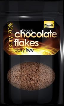 Flocos de chocolate biol�gico 125g - sem gl�ten