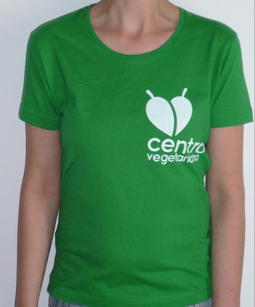 T-shirt Centro Vegetariano - modelo senhora