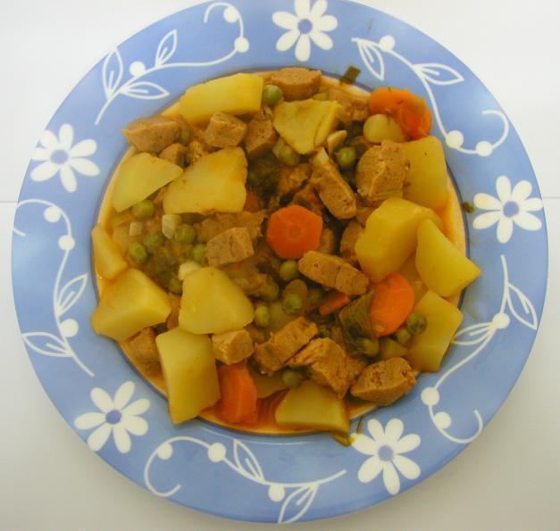 Soja com cogumelos e verduras