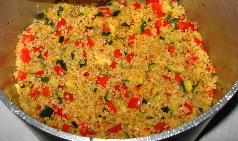 Bulgur com vegetais