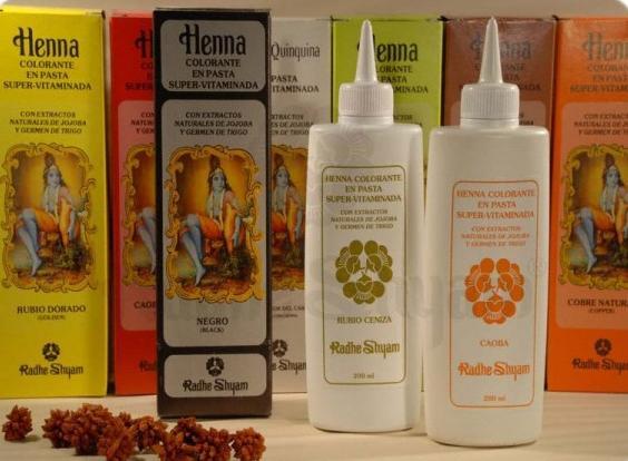 Coloração em pasta super-vitaminada Henna Castanho Escuro 200 ml - Radhe Shyam
