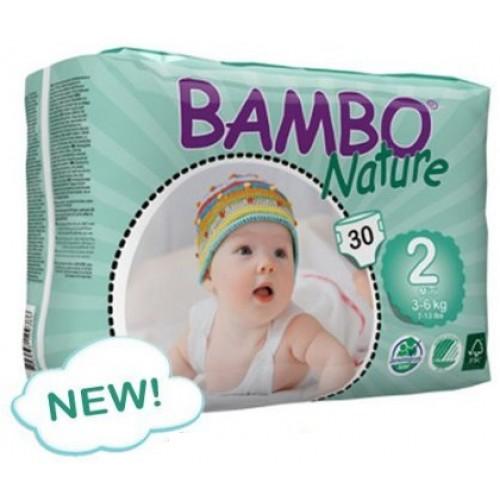 Fraldas Bambo Nature Eco-descartáveis Mini 3-6Kg