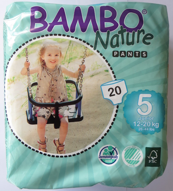 Cuecas de treino Bambo Eco-descartáveis