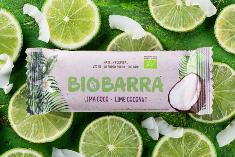 Barrita de lima e coco biológica 30 g - sem glúten