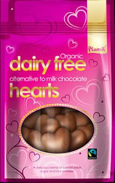 Corações de chocolate biológico de comércio justo 125g - sem glúten