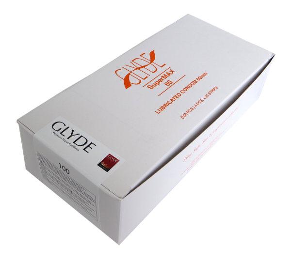 Preservativos transparentes Super-max Glyde (100 unid.)