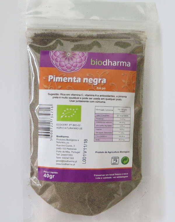 Pimenta negra biológica em pó 40 g