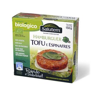 Hambúrguer Biológico de Tofu e Espinafres