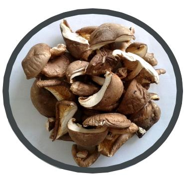 Cogumelos Shiitake desidratados biológicos Midzu 100 g