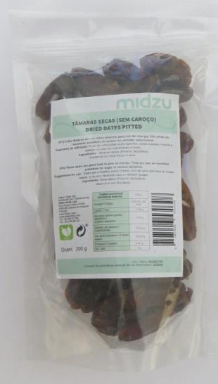 Tâmaras secas (sem caroço) Midzu 200 g