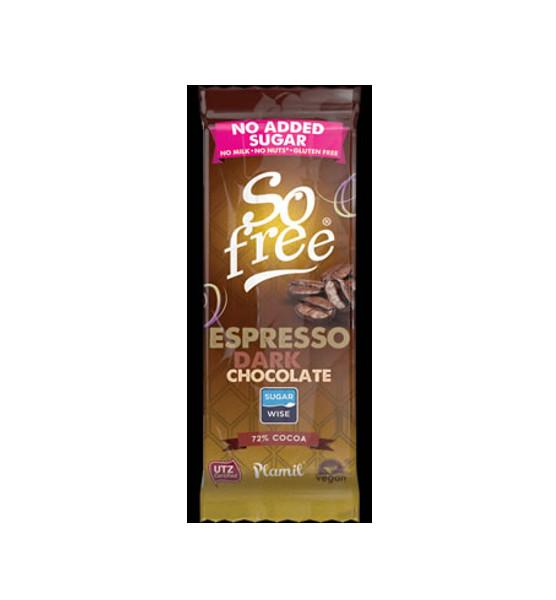 Chocolate sem açúcar com aroma de café 35g - sem glúten