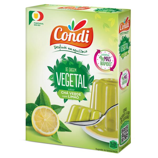 Gelatina Vegetal de Chá Verde e Limão Condi