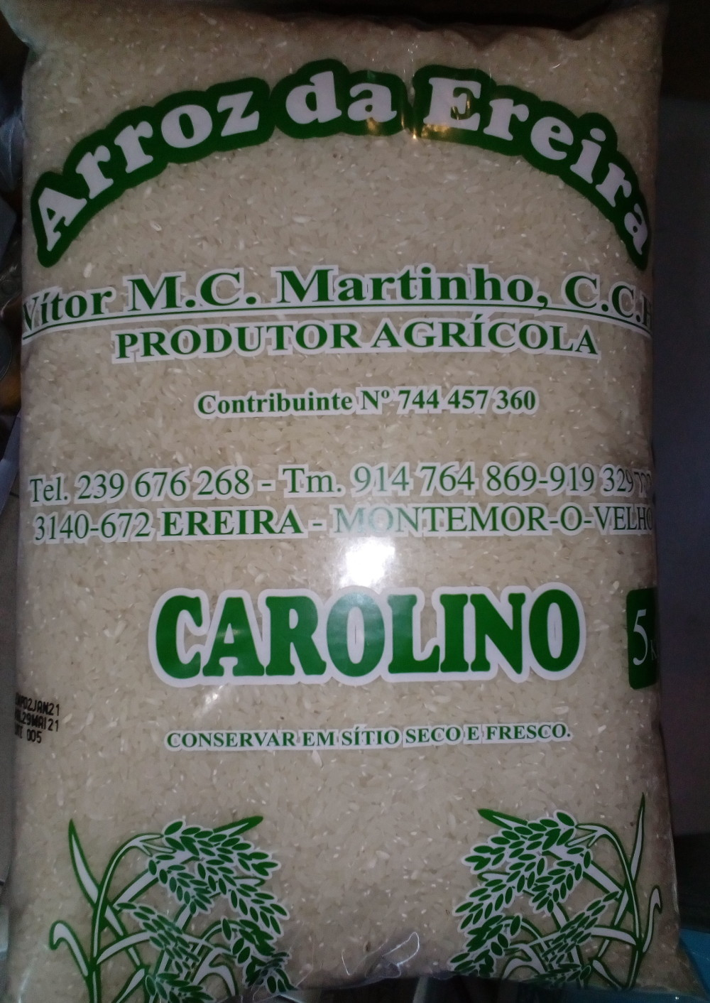 Arroz carolino do Mondego 5Kg