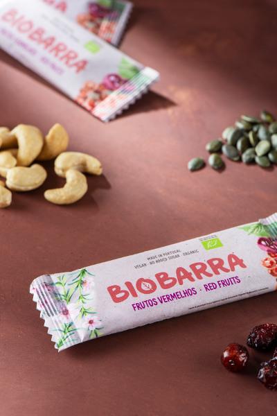 Barrita de frutos vermelhos biológica 30 g - sem glúten