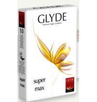 Preservativos transparentes Super-max Glyde (10 unid.)