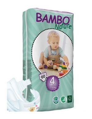 Fraldas Bambo Nature Eco-descartáveis Maxi 7-18kg (60 unidades)