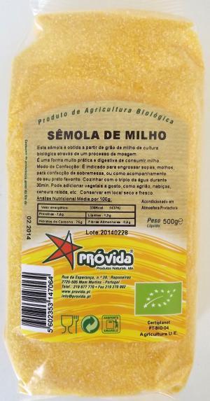 Sêmola de milho BIO 500g